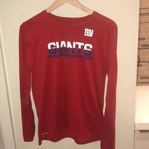NY Giants Dri-Fit Long Sleeve Shirt Youth XL